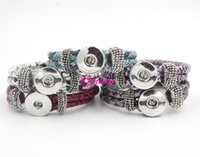 EURO and US Style snake bracelet - New Hot Sale Classic Noosa Chunks Snap Bracelet Jewelry Trendy Snap Button Bracelet Handmade Snake Leather Snap Bracelets For Snap Buttons