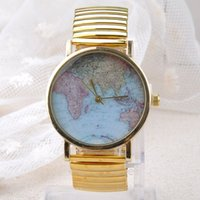 auto maps - 2016 World Map Globe Fashion Women s and Men s Quartz Watch Wrist Watches
