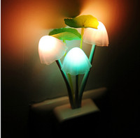 Wholesale US EU Plug Fantastic Mushroom Light Sense Control Led Night Wall Light Adapter Exquisite with Soft Light