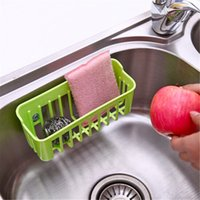 Wholesale New Multi purpose Kitchen Sink Suction Cup Shelf Debris Rack Washing Sponge Drain Rack Bathroom Suction Wall Shelf