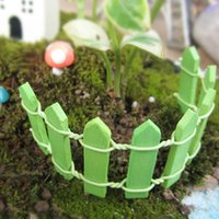 Wholesale 2PCS Micro world bonsai garden small ornament Landscape decoration Mini Log fence doll cm high color