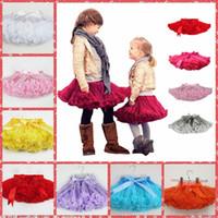 Wholesale Top Quality Candy Color Kids Tutu Skirt Dance Dresses Soft Tutu Dress Ballet Skirt Children Pettiskirt Clothes Underskirt Cheap