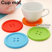 Wholesale Colored silicone Cup Mat Ikea Novelty households Table Kitchen accessories Pot holder Vintage Placement Coaster Crochet TB8505