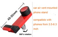Wholesale Universal Air Vent Phone Mount degree Rotatable Car Holder for iPhone6 s iphone6plus SamSung s6 HTC Huawei