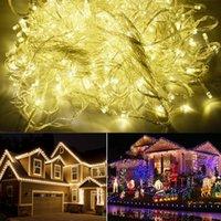 Wholesale Cheap M LED Warm White Party Christmas Lights Decoration Wedding Twinkle String Lighting V EU TK0586