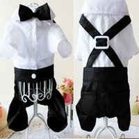 Wholesale New BL Eco Friendly Pet Clothes Puppy Jumpsuit Shirt Dog Wedding Tuxedo Suit with Bow Tie Pet Clothing YF031