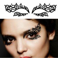 Wholesale Popular carbon fiber art paper cutting eye stickers eyeliner personalized eye stickers