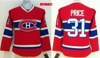 women athletic wear - Canadiens Carey Price Jersey CH Red Women Hockey Jerseys New Hot Ice Hockey Wears Brand Ladies Uniforms Athletic Shirts Hot SALE