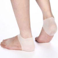 Wholesale 1Pair Heel Unisex Silicone Heel Skin Soft Socks Hard Cracked Moisturising Protector Insoles Foot Feet Care