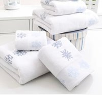 christmas towels - New Snow Flowers Christmas Towel set piece set bath towel x127cm big towel x66cm small towel x46cm for X mas gifts