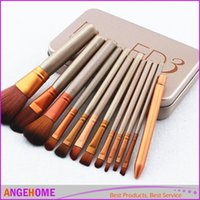Wholesale Makeup Brushes Professional Synthetic fiber Cosmetic Facial Make up Brush Tools Makeup Brushes Set Kit With Retail Box
