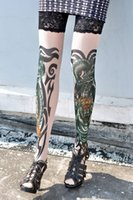 beautiful dragon tattoos - Free size Tiger and Dragon Tattoo cozy and cool Stockings sexy wonder women new stocking hot sale Sexy beautiful women