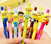 Wholesale HOT Minions movie Cartoon Ballpoint Pens Despicable Me Minion creative pen sets new School Supplies Cute Gifts for kids Children