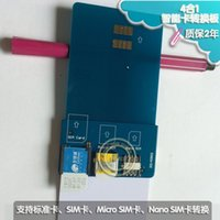 Wholesale 1PCS Smart Card Pinboard Adapter Converter For SIM Micro SIM Nano SIM Cards for business hall to create new card