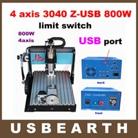 Wholesale Free ship axis USB CNC Engraver CNC Z USB Router with W VFD spindle and limit switch USB port