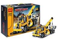 toy tow trucks - NEW Decool High mini mobile crane tow truck building block toys for Children birthday gifts