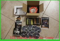 Cheap Cheaper DVD Fitness video 14 DVD Focus T25 Crazy Potent Slimming Training Set Alpha Beta Core Speed T25 Workout Slimming Fitness Teaching
