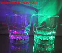 Wholesale Colorful LED Cup LED flashing cup octagonal cup Water Beer induction LL