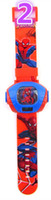 bag tags kids - Spiderman Projection Watch Spiderman digital watch Spiderman wrist Watch with Retail the opp bag packaging for Kids best gift H0473