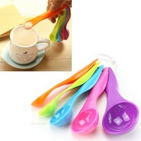 Wholesale 5 Colorful Measuring Spoons Set Kitchen Tool Utensils Cream Cooking Baking Spoon