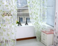 Wholesale Chic Leaf Type Tulle Voile Door Window Curtain Drape Panel Sheer Scarf Valance