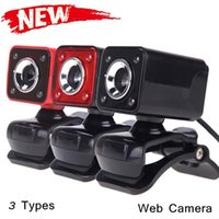 Wholesale Hot Sale New Arrivel Webcame USB M Pixels HD Camera Web camera with MIC Clip on Night Vision for PC Laptop Desktop Computer C1946