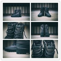 Wholesale 100 Original Kanye West Yeezy Unisex Men And Women Flat Boot Boost Pirate Black AQ4831 Size