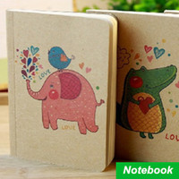 Wholesale 12 Portable diary book Vintage zakka books Kraft paper cover notebook caderno stationery material School supplies