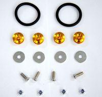 aluminum truck accessories - New Gold Aluminum Quick Release Fasteners Kit For Bumper Trunk Hatch Car Truck order lt no track