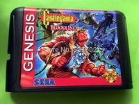 Wholesale Sega games card Castlevania the New Generation with box and manual for Sega MegaDrive Video Game console system bit MD card