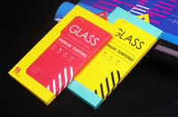 Cheap 100pcs Display Paper Packaging Package Retail Box Bag with Insert Handle For iphone 6 Tempered Glass Screen Protector