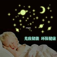 Wholesale noctilucent starry Home Wall Glow In The Dark Star Stickers Fluorescent Luminous PVC stars Wall Stickers removable Baby Kids Nursery Room