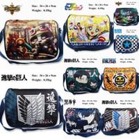 Wholesale Anime One piece Trafalgar Law Attack on Titan LOL men Cosplay Shoulder Messenger Bag Kids toy