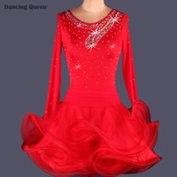latin dress - 2015 Adult Child Latin Dance Dress Women Girls Colors Cha Cha Rumba Samba Salsa Dance Dresses Accept Custom Latin Dance Wear