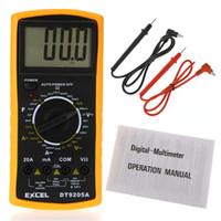 Wholesale DT9205A AC DC LCD Display Professional Electric Handheld Tester Meter Digital Multimeter Multimetro Ammeter Multitester A3