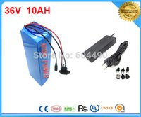 Wholesale TNT shipping V Ah Electric Bicycle Battery with PVC Case V A charger BMS