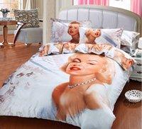 Cheap 3D Marilyn monroe bedding comforter set queen size bedspread duvet cover sheets bed in a bag bedclothes quilt linen bedsheet cotton