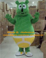 gummy bear - Likable Green Gummy Bear Mascot Costume Mascotte Gummibar With Chubby Fat Body Yellow Briefs Adult Size No