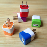 Wholesale Real A V Wall charger home charger wall adpater for smartphones samsung etc dual color fast charger