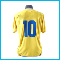 Wholesale Ibrahimovic Home Jerseys Shirts Sweden Jersey Home Yellow Soccer Wear Football Shirt