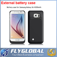 Wholesale 4200mah samsung Galaxy S6 edge Power case external battery case for S6 Power bank Case external power battery charger powerbank power banks
