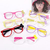 Wholesale Cute Chic Cartoon Kid Child Girl Boy Bowknot Glasses Spectacle Frame HITM