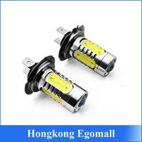Wholesale H7 W Xenon White LED Fog Light Bulb Headling lights Lamp High power for Auto Cars