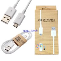 Wholesale 1M FT Micro USB Data Sync Charge charging adapter Cable With Retail Package For Samsung Galaxy S4 S3 Charger Cables