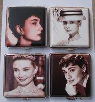 metal cigarette case - Super Star Cigarette Box Metal Cigarette Case Audrey Hepburn Marilyn Monroe cigarette box PC