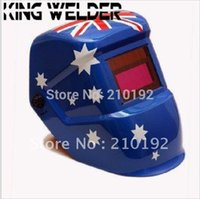 Wholesale Solar battery dual supply auto darkening welding helmet mak eyeshade for the MIG MAG TIG MMA welding machine and plasma cutter