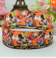 chevron ribbon - 5 off quot mm cartoon mouse Chevron Printed grosgrain ribbon hair bow DIY handmade yards colors option