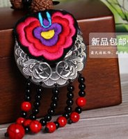 Cheap Southland ancient Chinese style national wind original handmade jewelry tassel necklace retro short paragraph festive embroideries