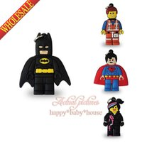 Wholesale Hot New Lego Movie Super Heroes key pendant PVC Keychains Charms Pendants cartoon Characters Charms Accessories for mobile phone bags