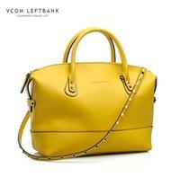 Venta al por mayor a 2015 bolsas de marca famosa genuina de cuero, bolso de las mujeres de la moda, señora piel de vaca bolsa de mensajero de la vaca del monedero del bolso BOLSAS Femininas